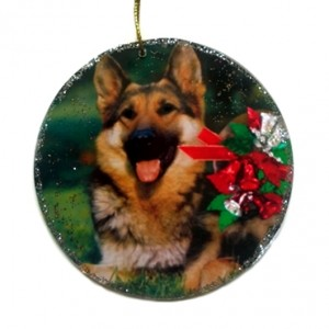 Ornament decoration Christmas Alsatian dog gift for pet