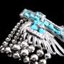 cross-angel-wings-stretch-bracelet-Turquoise