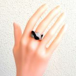 ring-sterling-silver-clear-black-zirconia-Wave