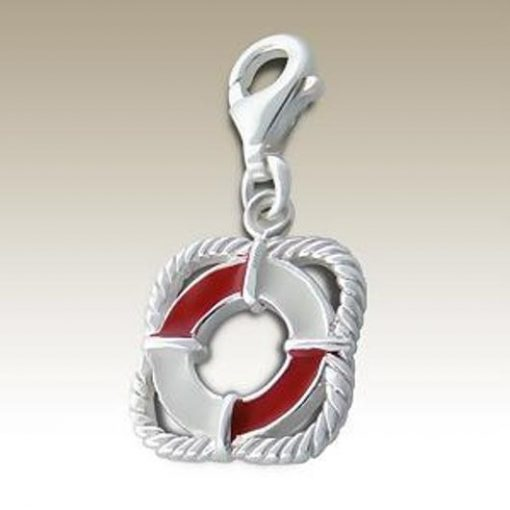Buoy clip on charm Sterling Silver