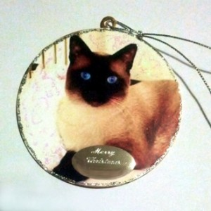 Ornament decoration Cat Merry Christmas gift for pet