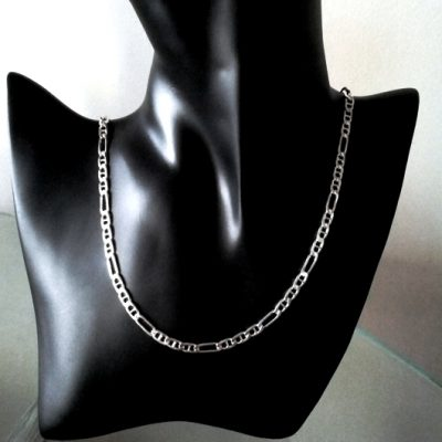 Sterling Silver chain Figaro 31 anchor 5mm Italy