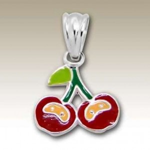 Cherry pendant Sterling Silver