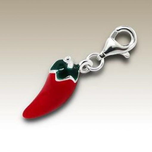 Chilli clip on charm Sterling Silver