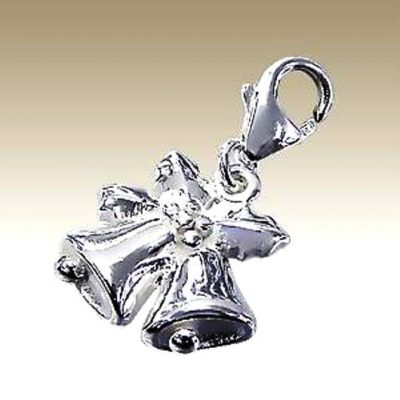 Christmas Bells clip on charm Sterling Silver