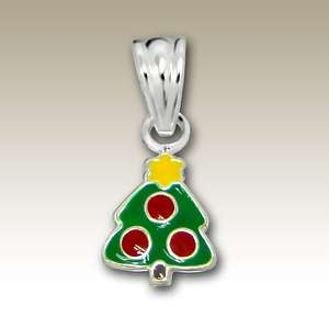 Sterling Silver Christmas tree pendant