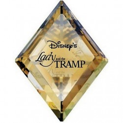 Walt Disney Lady and the Tramp title plaque Swarovski crystal