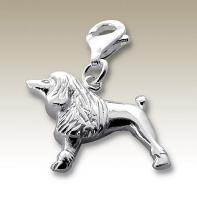 Dog clip on charm Sterling Silver
