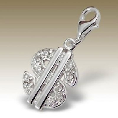 $ Dollar clip on charm Sterling Silver