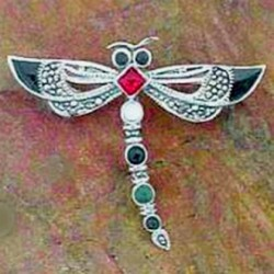 Dragonfly brooch Sterling Silver