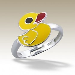 Duck adjustable ring Sterling Silver