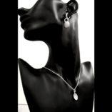 sterling-silver-drop-earrings-zirconia-Dome