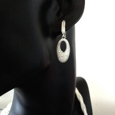 Silver Earrings zirconia