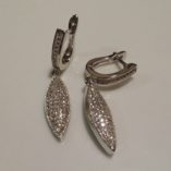 sterling-silver-drop-earrings-zirconia-Long-Marquis