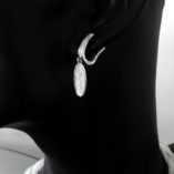 sterling-silver-drop-earrings-zirconia-Long-Oval