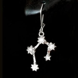 Sterling Silver Southern Cross constellation drop earrings.
