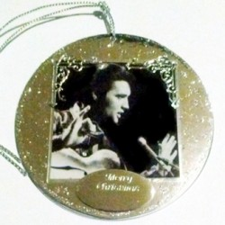 Ornament decoration Elvis Guitar Man 1968 Merry Christmas