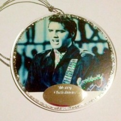 Ornament decoration Elvis comeback1968 Merry Christmas gift