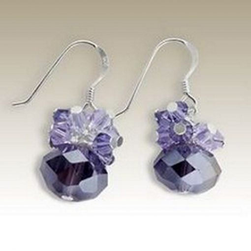 Sterling Silver handmade earrings Crystal amethyst
