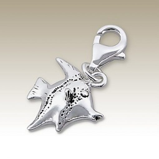 Angel Fish clip on charm Sterling Silver