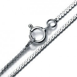 Chain Sterling Silver Serpentine 70cm