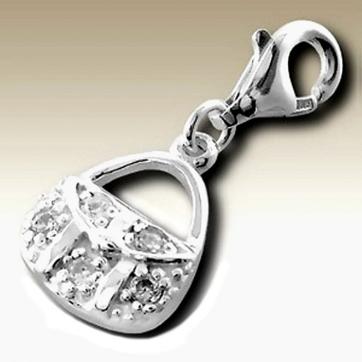Handbag clip on charm Sterling Silver