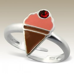 Ice cream adjustable ring Sterling Silver