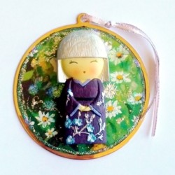 Ornament decoration Japanese Girl beautiful gift handmade