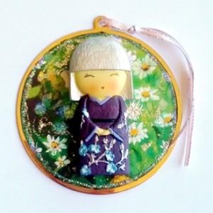 Ornament decoration Japanese Girl beautiful gift handmade