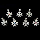 maltese-cross-filigree-bail-sterling-swarovski-7-colours