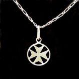 maltese-cross-sterling-silver-pendants-flat-18mm