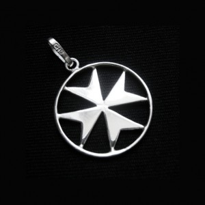 Sterling Silver flat Maltese Cross pendant handmade in Malta.