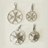 maltese-cross-sterling-silver-pendants-flat-and-double-sided
