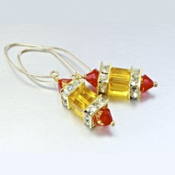 14K gold filled earrings Swarovski crystal MARIGOLD