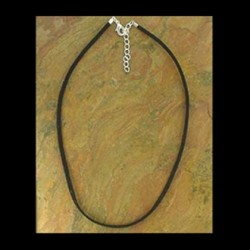 Necklace black Suede 40-45cm