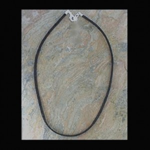 Necklace black Suede 50cm