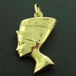 Sold products bracelets chains charms earrings pendants 9ct gold pendant charm nefertiti mozeypictures Choice Image