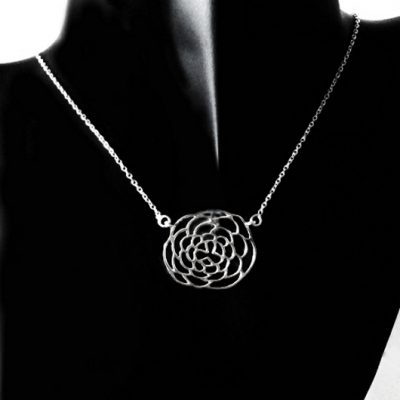 Sterling Silver Web necklace Cable chain