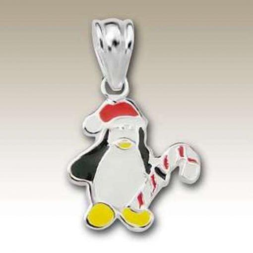 Penguin Christmas pendant Sterling Silver