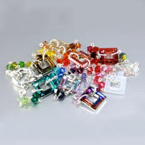 Swarovski Crystal necklace Cosmic squares