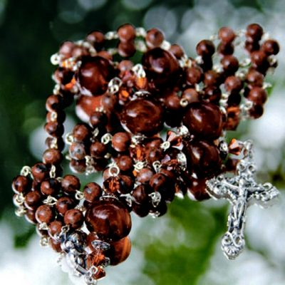 Rosary beads picture Jasper Carnelian