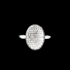 Ring pave set zirconia Sterling Silver CONCAVE