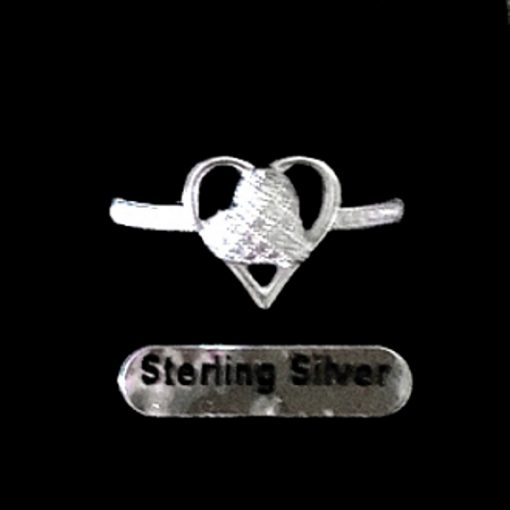 Ring pave set zirconia Sterling Silver HEART