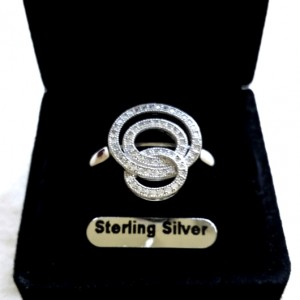 Ring pave set zirconia Sterling Silver COSMIC
