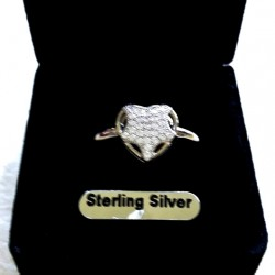 Ring pave set zirconia Sterling Silver STAR