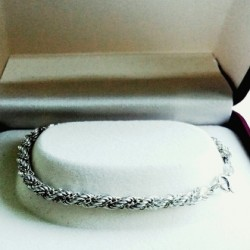 Bracelet Sterling Silver rope Italy