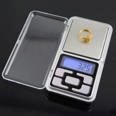 Digital mini scales High Precision 500g x 0.01g silver colour