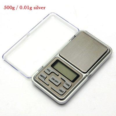 Digital mini scales High Precision 500g x 0.01g silver