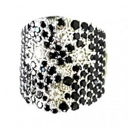 southern-cross-concave-ring-black-clear-cz-24x24mm-Size-Q-17.6g-scg-rng-SCR21-530