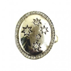 Sterling Silver Ring Southern Cross DOME
